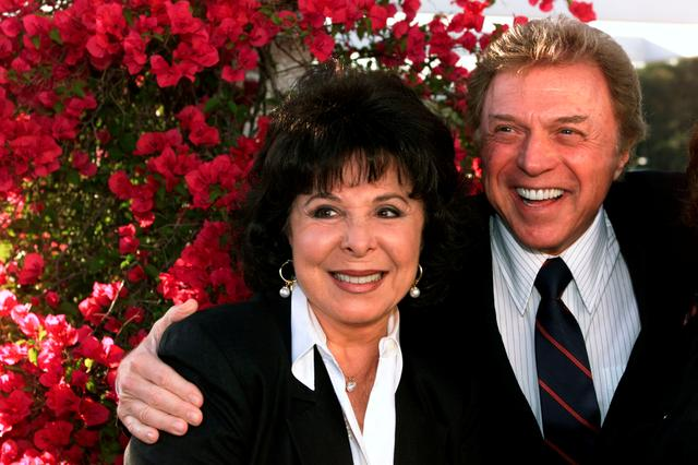 "FILE PHOTO: Singers Steve Lawrence and Edyie Gorme pose as they arrive at "" An Evening with Larry Gelbart"" July 11 at The Museum of Television & Radio in Beverly Hills. Gelbart was honored at the musuem for his contributions to the medium of television, which include writing credits on "" The Bob Hope Show,"" "" M*A*S*H,"" and "" Caesar's Hour./File Photo"