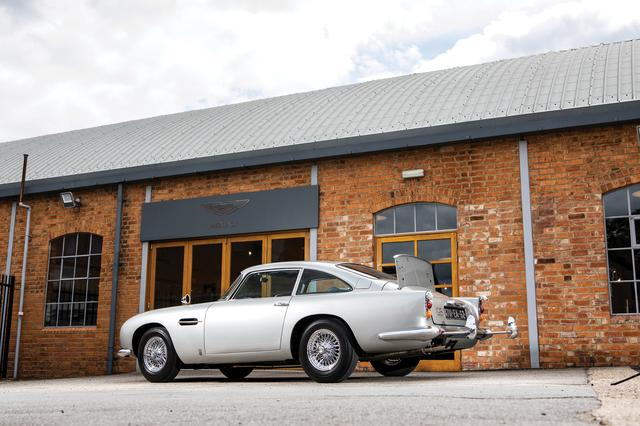 An original Aston Martin DB5 car, one of just three surviving examples, fitted with James Bond specifications as pictured in the film Goldfinger which will be offered for auction by RM Sotheby's, is shown in this photo provided June 12, 2019.    Simon Clay © 2019 Courtesy of RM SothebyÕs/Handout via REUTERS    ATTENTION EDITORS - THIS IMAGE WAS PROVIDED BY A THIRD PARTY NO RESALES, NO ARCHIVE