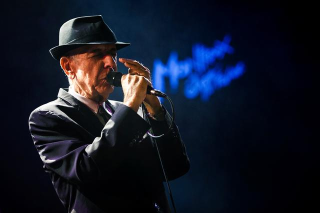 FILE PHOTO: Canadian singer-songwriter Leonard Cohen performs during the first night of the 47th Montreux Jazz Festival in Montreux, Switzerland on July 4, 2013. REUTERS/Valentin Flauraud/File Photo