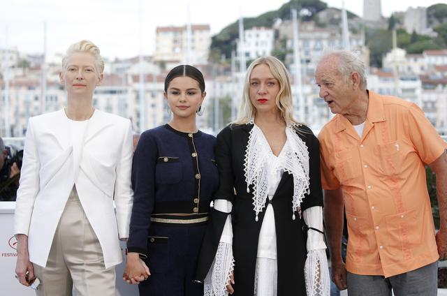 "72nd Cannes Film Festival - Photocall for the film ""The Dead Don't Die"" in competition - Cannes, France, May 15, 2019. Cast members Bill Murray, Chloe Sevigny, Selena Gomez and Tilda Swinton pose. REUTERS/Stephane Mahe"