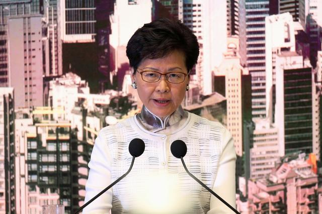 Hong Kong Chief Executive Carrie Lam speaks at a news conference in Hong Kong, China, June 15, 2019. REUTERS/Athit Perawongmetha
