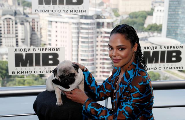 "FILE PHOTO: Tessa Thompson poses for a picture during a photocall for the film ""Men in Black: International"" ahead of its Russian premiere, in Moscow, Russia June 6, 2019. REUTERS/Evgenia Novozhenina/File Photo"