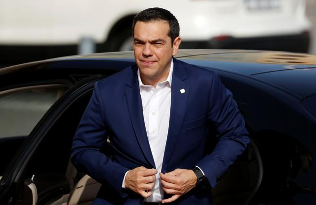 Greek Prime Minister Alexis Tsipras arrives at the Auberge de Castille for the Southern EU Countries Summit in Valletta, Malta June 14, 2019. REUTERS/Darrin Zammit Lupi