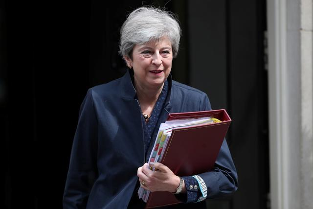 FILE PHOTO: Britain's Prime Minister Theresa May leaves Downing Street, as uncertainty over Brexit continues, in London, Britain June 12, 2019. REUTERS/Hannah Mckay