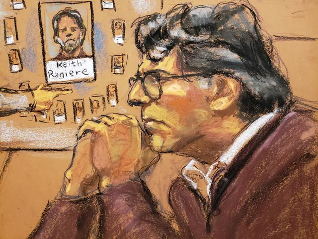 Nxivm leader Keith Raniere, facing charges including racketeering, sex trafficing and child pornography is shown in this courtroom sketch in U.S. Federal Court in Brooklyn, New York, U.S., June 17, 2019.   REUTERS/Jane Rosenberg