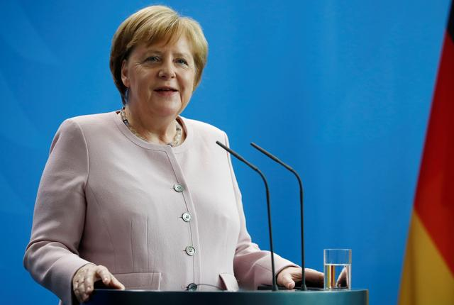 German Chancellor Angela Merkel speaks during a news conference in Berlin, Germany, June 18, 2019. REUTERS/Hannibal Hanschke