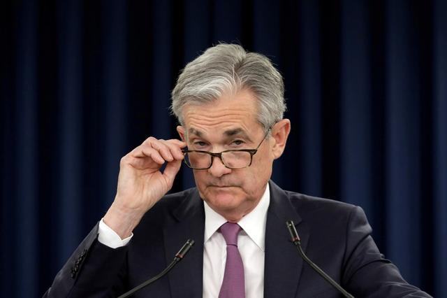 Foto de archivo. El presidente de la Reserva Federal de Estados Unidos durante una conferencia de prensa en Washington. 1 de mayo de 2019. REUTERS/Yuri Gripas.