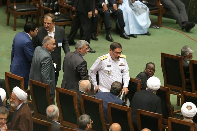 FILE PHOTO - Ali Shamkhani, Secretary of Supreme National Security Council of Iran, attends the swearing-in ceremony for Iranian president Hassan Rouhani for a further term, at the parliament in Tehran, Iran, August 5, 2017. Nazanin Tabatabaee Yazdi/TIMA via REUTERS