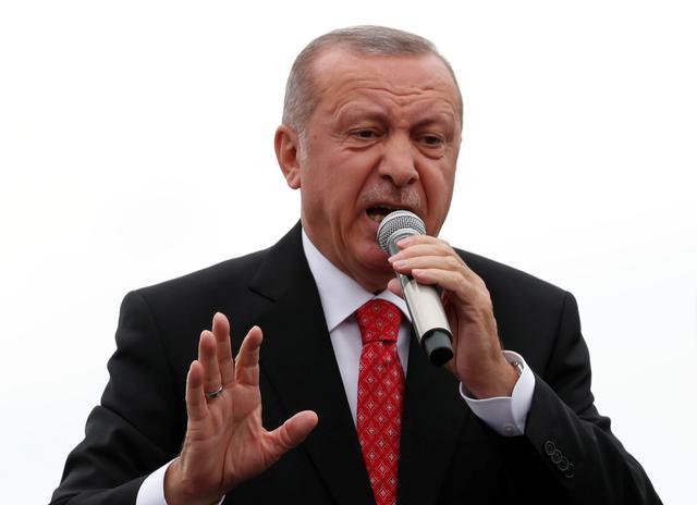 Turkish President Tayyip Erdogan speaks during a ceremony in Istanbul, Turkey, June 19, 2019. REUTERS/Murad Sezer