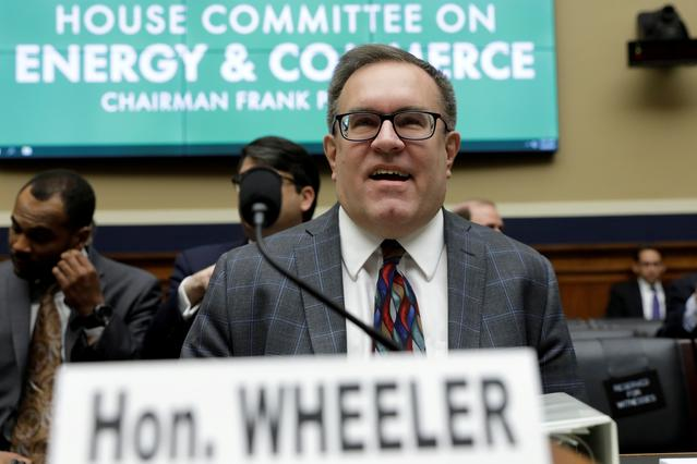 FILE PHOTO: U.S. Environmental Protection Agency (EPA) Administrator Andrew Wheeler testifies before a House Energy and Commerce Environment and Climate Change Subcommittee hearing on the FY2020 EPA Budget on Capitol Hill in Washington, U.S., April 9, 2019. REUTERS/Yuri Gripas