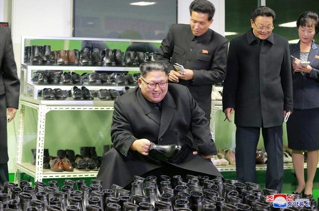 FILE PHOTO: North Korean leader Kim Jong Un visits a shoe factory in Wonsan, North Korea, in this undated photo released December 2, 2018 by North Korea's Korean Central News Agency (KCNA).    KCNA via REUTERS/File Photo