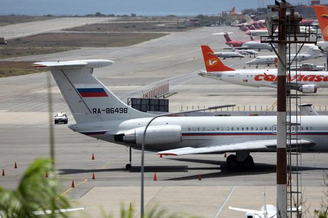 Un avión con bandera rusa es visto en el aeropuerto de Caracas. Junio 24, 2019. REUTERS/Manaure Quintero NO RESALES. NO ARCHIVES.