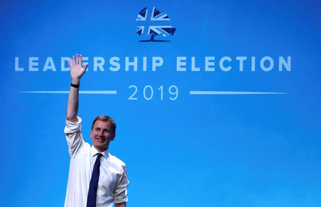 FILE PHOTO: Jeremy Hunt, a leadership candidate for Britain's Conservative Party, attends a hustings event in Birmingham, Britain, June 22, 2019. REUTERS/Hannah McKay/File Photo