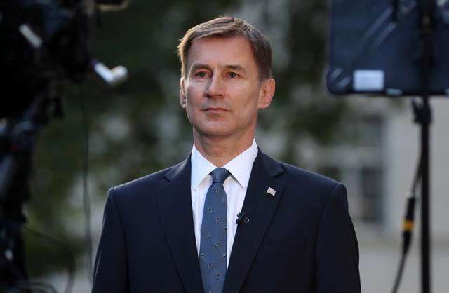 Conservative Party leadership candidate Jeremy Hunt attends an interview outside his home in London, Britain, June 24, 2019. REUTERS/Simon Dawson