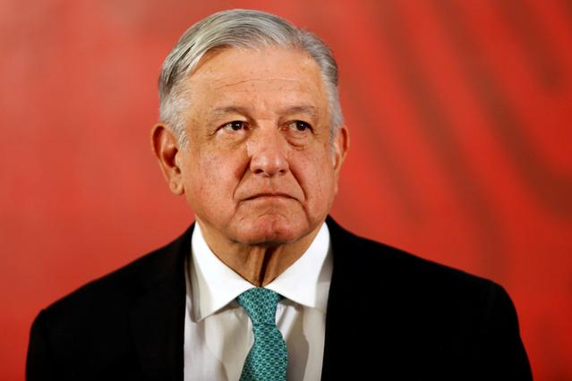 FILE PHOTO: Mexico's President Andres Manuel Lopez Obrador attends a news conference at the National Palace in Mexico City, Mexico June 10, 2019. REUTERS/Gustavo Graf/File Photo