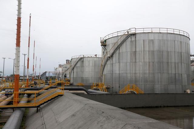 Foto de archivo. Tanques de almacenamiento de petróleo en la planta Ecopetrol en Castilla La Nueva, Colombia. 26 de junio de 2018. REUTERS/Luisa Gonzalez.