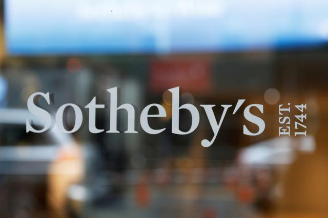FILE PHOTO: A sign marking Sotheby's headquarters is seen on the Upper East Side of New York City, U.S., June 18, 2019.  REUTERS/Shannon Stapleton/File Photo