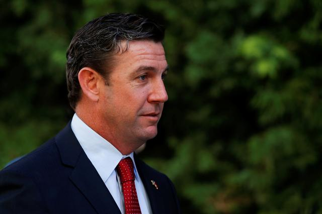 Re-elected U.S. congressman Duncan Hunter (R-CA), arrives for an appearance at federal court in San Diego, California, U.S. December, 3, 2018. REUTERS/Mike Blake