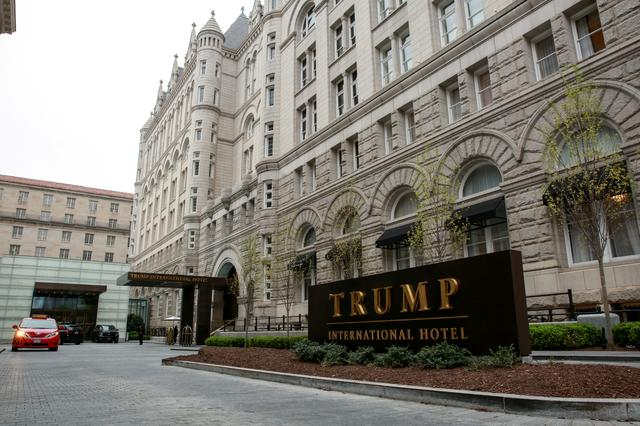 FILE PHOTO: A general view of the Trump International Hotel seen in Washington, U.S., April 18, 2019. REUTERS/Amr Alfiky/File Photo