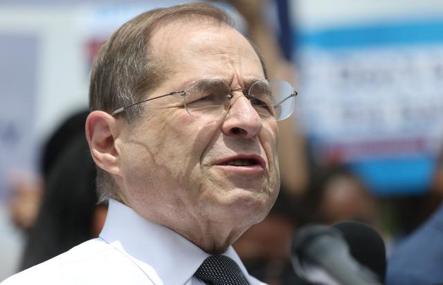 U.S. Rep. Jerrold Nadler speaks at a news conference held by Democrats on the state of voting rights in America the U.S. Capitol Building in Washington, U.S., June 25, 2019. REUTERS/Leah Millis