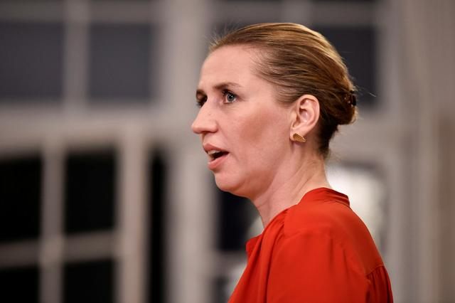 Mette Frederiksen of The Danish Social Democrats addresses the press after finalizing the government negotiations at Christiansborg Castle in Copenhagen, Denmark, shortly after midnight on June 26, 2019.  Mads Claus Rasmussen/Ritzau Scanpix/via REUTERS    ATTENTION EDITORS - THIS IMAGE WAS PROVIDED BY A THIRD PARTY. DENMARK OUT. NO COMMERCIAL OR EDITORIAL SALES IN DENMARK.