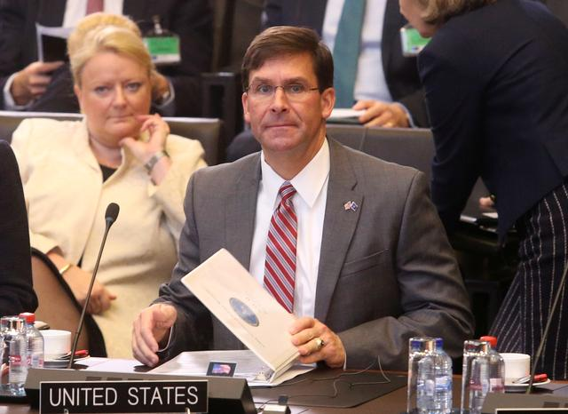 Acting U.S. Secretary for Defense Mark Esper attends the NATO Defence Ministers meeting in Brussels, Belgium June 27, 2019. REUTERS/Francois Walschaerts
