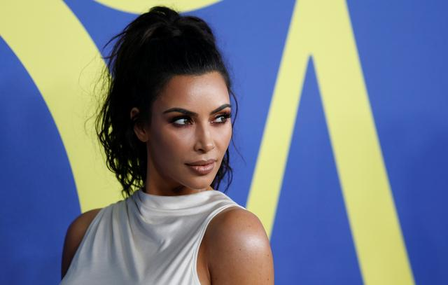 FILE PHOTO: Kim Kardashian attends the CFDA Fashion awards in Brooklyn, New York, U.S., June 4, 2018. REUTERS/Shannon Stapleton