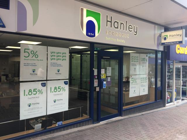 A general view of the Hanley Economic Building Society branch in Stoke-on-Trent, Britain June 18, 2019. Picture taken June 18, 2019. REUTERS/Lawrence White