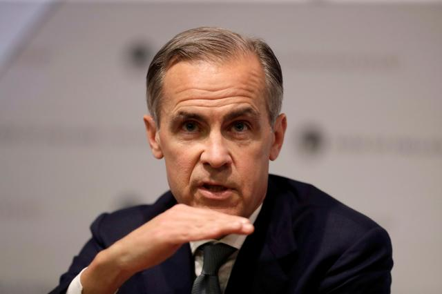 FILE PHOTO: Bank of England Governor Mark Carney speaks during an Inflation Report Press Conference at the Bank of England in the City of London, Britain May 2, 2019. Matt Dunham/Pool via REUTERS/File Photo