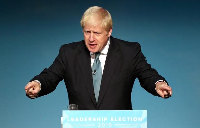 FILE PHOTO: Boris Johnson, a leadership candidate for Britain's Conservative Party, attends a hustings event in Darlington, Britain, July 5, 2019. REUTERS/Scott Heppell/File Photo