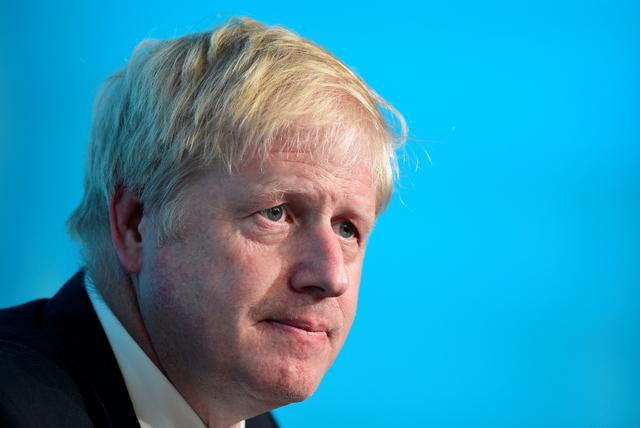 Boris Johnson, a leadership candidate for Britain's Conservative Party, attends a hustings event in Cardiff, Wales, Britain, July 6, 2019. REUTERS/Rebecca Naden
