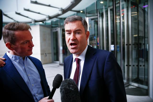 Britain's Secretary of State for Justice David Gauke speaks to media outside the BBC headquarters after appearing on the Andrew Marr show in London, Britain July 7, 2019. REUTERS/Henry Nicholls
