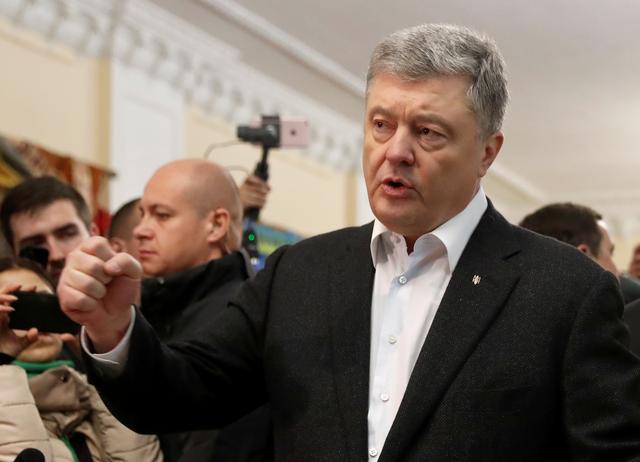 FILE PHOTO: Petro Poroshenko in Kiev, Ukraine April 21, 2019. REUTERS/Vasily Fedosenko