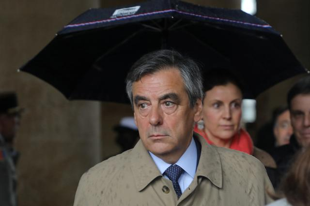 FILE PHOTO: Former French Prime Minister Francois Fillon leaves after a national ceremony for late Lieutenant-Colonel Arnaud Beltrame at the Hotel des Invalides in Paris, France, March 28, 2018.  Ludovic Marin/Pool via Reuters
