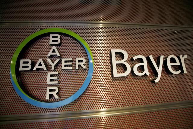 Logo of Bayer AG is pictured at the annual results news conference of the German drugmaker in Leverkusen, Germany February 27, 2019. REUTERS/Wolfgang Rattay