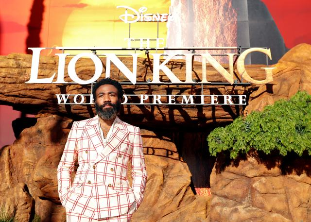 "Cast member Donald Glover poses during the World Premiere of ""The Lion King"" in Los Angeles, California, U.S., July 9, 2019. REUTERS/Mario Anzuoni"