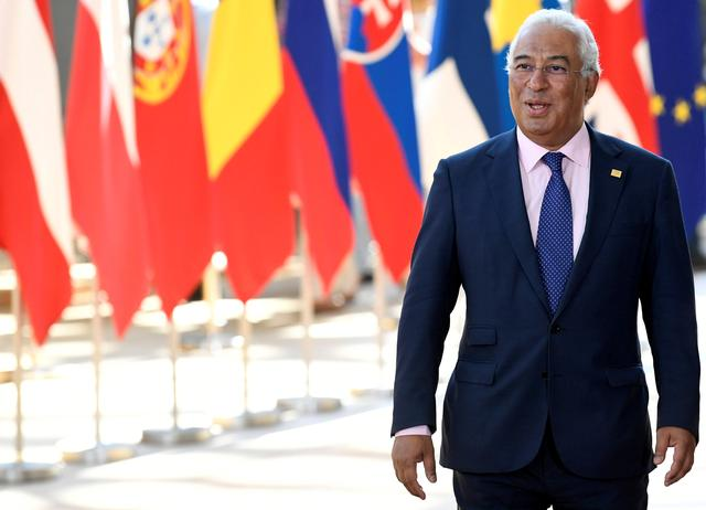 FILE PHOTO: Portugal's Prime Minister Antonio Costa arrives to take part in a European Union leaders summit, in Brussels, Belgium July 2, 2019. REUTERS/Piroschka Van De Wouw/File Photo