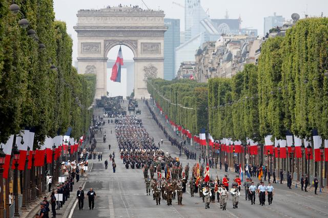 European troops attend the traditional Bastille Day military parade on the Champs-Elysees Avenue in Paris, France, July 14, 2019. REUTERS/Charles Platiau