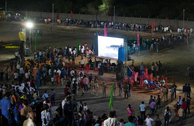 Spectators leave a viewing gallery after India's second lunar mission, Chandrayaan-2, was called off, in Sriharikota, India, July 15, 2019. REUTERS/P. Ravikumar