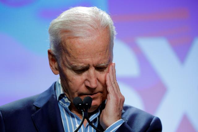 Former U.S. Vice-President Joe Biden pauses while speaking about the Biden Cancer Initiative at the South by Southwest (SXSW) Music Film Interactive Festival 2017 in Austin, Texas, U.S., March 12, 2017.   REUTERS/Brian Snyder