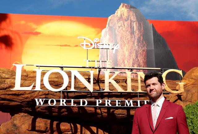"FILE PHOTO: Cast member Billy Eichner poses during the World Premiere of ""The Lion King"" in Los Angeles, California, U.S., July 9, 2019. REUTERS/Mario Anzuoni"