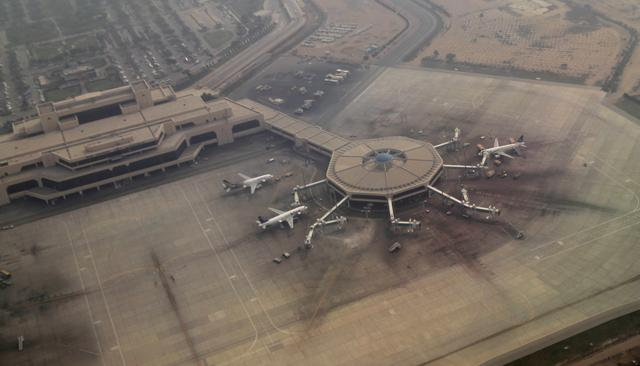 FILE PHOTO: An arial view of the airplane hub at the airport in Karachi, Pakistan February 3, 2017. REUTERS/Caren Firouz/File Photo