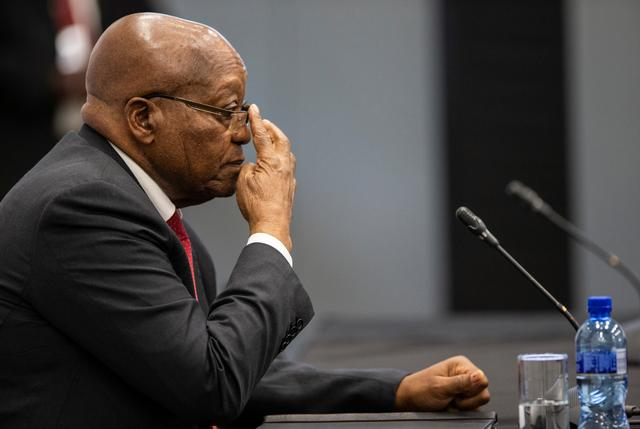 Former South African President Jacob Zuma appears before the Commission of Inquiry into State Capture in Johannesburg, South Africa, July 15, 2019. Wikus de Wet/Pool via REUTERS