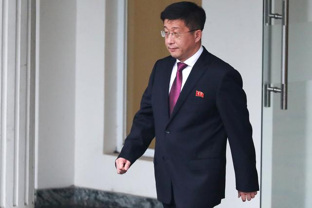 FILE PHOTO - Kim Hyok Chol, North Korea's special representative for U.S. affairs, leaves the Government Guesthouse in Hanoi, Vietnam, February 23, 2019. REUTERS/Athit Perawongmetha