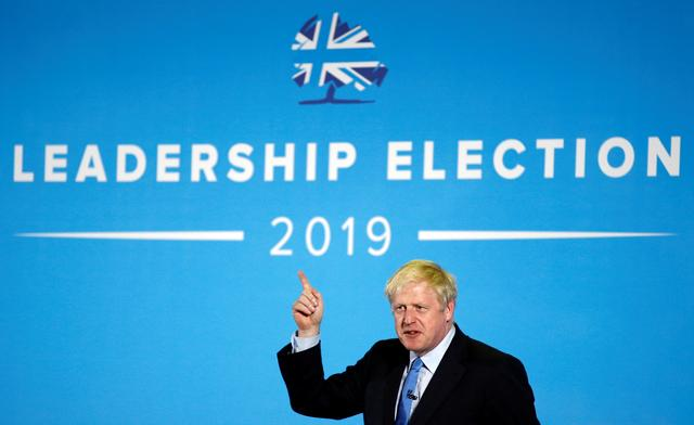 FILE PHOTO - Boris Johnson, a leadership candidate for Britain's Conservative Party, attends a hustings event in Colchester, Britain July 13, 2019. REUTERS/Peter Nicholls