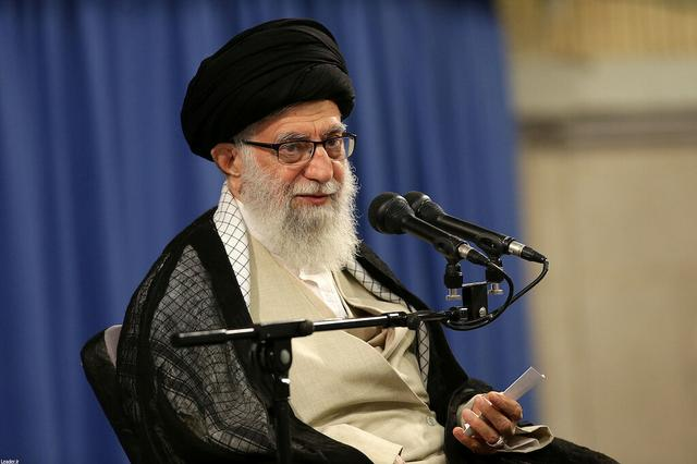 Iran's Supreme Leader Ayatollah Ali Khamenei speaks during ceremony attended by Iranian clerics in Tehran, Iran, July 16, 2019. Official Khamenei website/Handout via REUTERS
