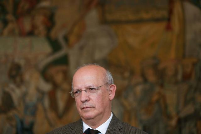 FILE PHOTO: Portuguese Foreign Minister Augusto Santos Silva attends a news conference at Necessidades palace in Lisbon, Portugal February 4, 2019.   REUTERS/Rafael Marchante/File Photo