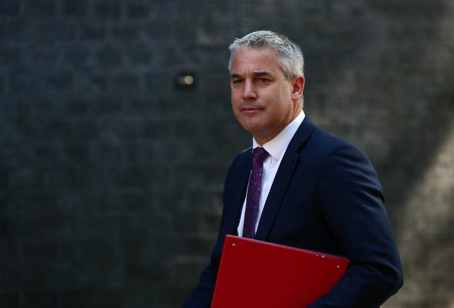 FILE PHOTO: Secretary of State for Exiting the European Union Stephen Barclay is seen outside Downing Street, as uncertainty over Brexit continues, in London, Britain May 21, 2019. REUTERS/Hannah Mckay