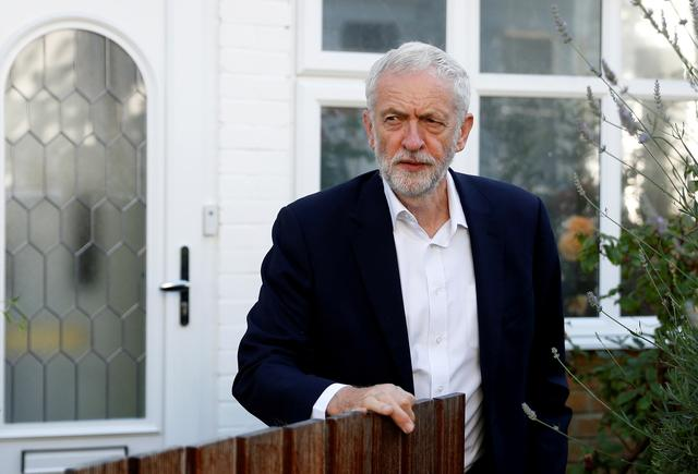 FILE PHOTO: Britain's opposition Labour Party leader Jeremy Corbyn leaves his home in London, Britain July 3, 2019. REUTERS/Peter Nicholls/File Photo