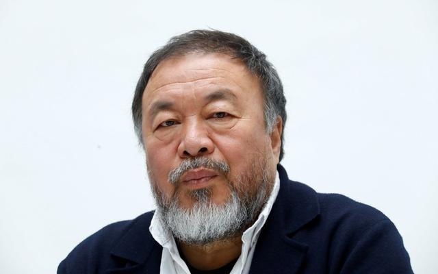 Foto de archivo del artista chino Ai Weiwei en una rueda de prensa en Dusseldorf, Alemania.  May 16, 2019. REUTERS/Ralph Orlowski